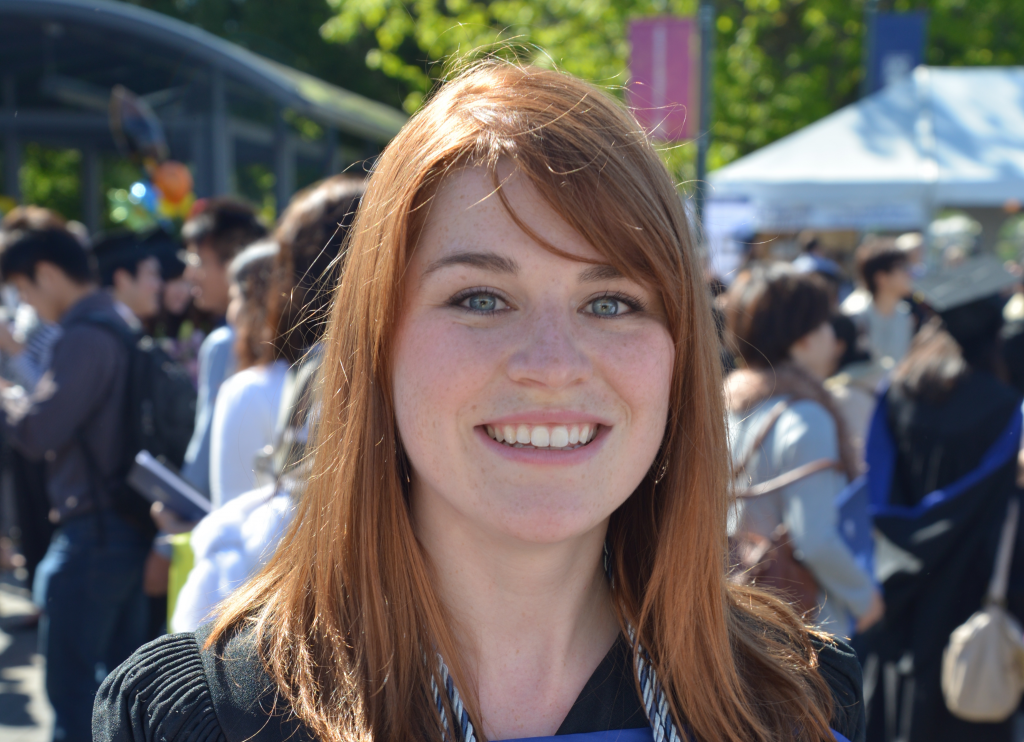 Jennifer Ferris at UBC's 2015 Spring Convocation