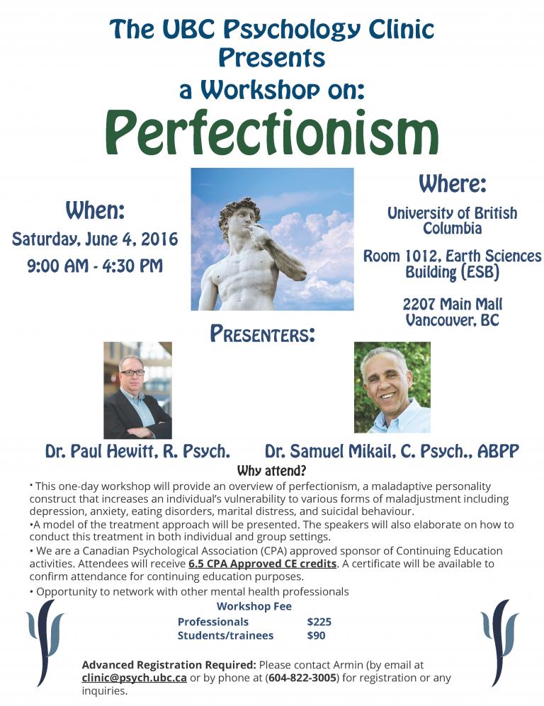 Perfectionism Workshop