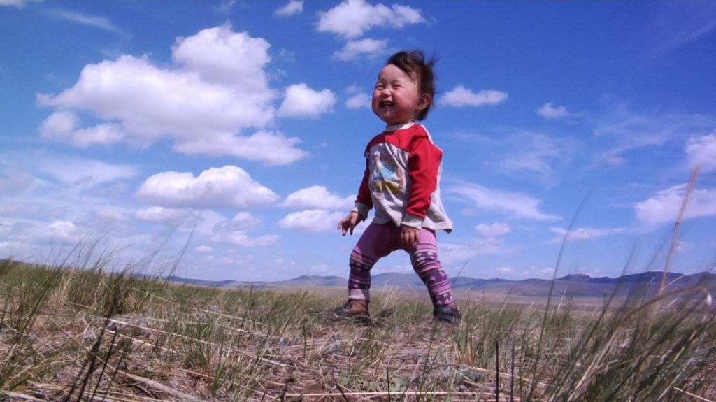 Bayar, who lives in Mongolia with his family, is one of the four babies followed from birth to first steps in Thomas Balmès' BABIES, a Focus Features release.